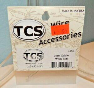 TCS #1258 3mm Golden White LED for DCC NEW