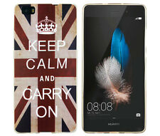 Case f huawei p8 Lite cubierta protectora funda, estuche, keep Calm and Carry on UK