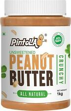 Pintola All Natural Crunchy Peanut Butter1 kg (Unsweetened, Gluten Free, Vegan)