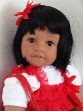 "Reborn 22"" Ethnic/Hispanic/Indian/AA toddler girl doll ""Ruby"" -Gem Girl!"