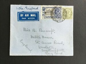 INDIA 1935 COVER AIR MAIL TO SOUTHAMPTON