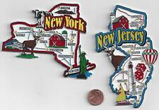 ALL 51  JUMBO  STATE MAP MAGNET   COLLECTION  7-COLOR .  NEW   MADE IN USA