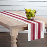 """Red and White Stripe Cotton Rib Weave 13""""  x 72"""" Table Runner"""