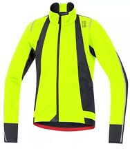 GORE BIKE WEAR Men's Oxygen WINDSTOPPER Soft Shell Jacket, neon yellow/black, XL