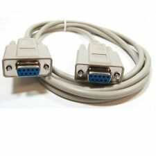 6 ft DB9pin Female~F/F Null Modem Crossover / Null wired,Serial RS232 Cable Cord