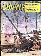 Liberty Magazine Army & Racketeers Antiaircraft Guns  February 24 1945