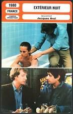 EXTERIEUR NUIT - Boisson,Dussolier,Lanvin (Fiche Cinéma) 1980 - Exterior Night