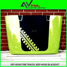 Hood Blackout Tire Tracks Decal Matte Black Out w/ install kit Jeep Wrangler TJ