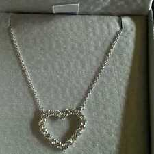 KWIAT OPEN HEART PENDANT, G/H/VS2-SI, 1.01 CT, 18K WG - RETAIL $3300+! W@W!!!!!