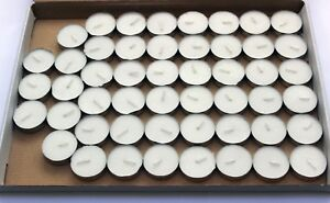 50 unscented White Tea Night Light Candles Unscented Nightlight T-Lights