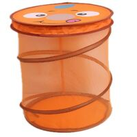 New Folding Lovely Animal Bucket Baby Toy Clothes Net Basket Storage Box Tools N