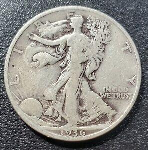 USA 1936 D Walking Liberty Half Dollar - Silver