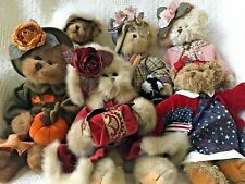Bearington Collection Bears Lot Of 6 Fancy Plush Stuffed Animal Dolls