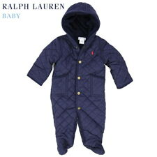 Polo Ralph Lauren Baby Quilted Bunting Bodysuit Snowsuit - Navy - Size 3 Months