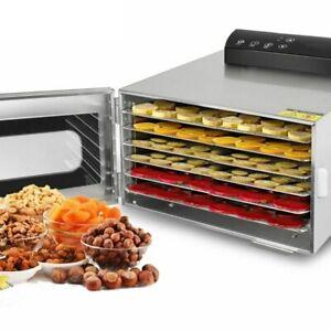 6 Trays Food Dehydrator Machine Fruit Snacks Dehydration Stainless Steel Dryer