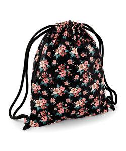 Womens Mens DRAWSTRING BAG Swim Gym Sack Beach Backpack Kids School Gymsac