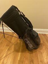 PING Hoofer Carry Golf Bag - Black / Brown