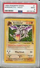 PSA 9 MINT Pokemon AERODACTYL Holo Rare Fossil 1/62 1999 Unlimited