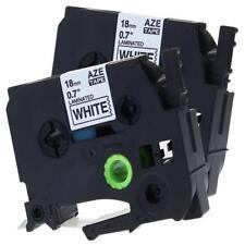 Compatible for Brother P-Touch Label Tape TZe-241 TZ241 PT-D400 Label Maker 2pk