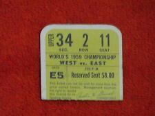 1959 NFL CHAMPIONSHIP TICKET PRE SUPERBOWL BALTIMORE COLTS REPEAT UNITAS