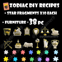Animal Crossing New Horizons Zodiac DIY Recipes+Furniture+Star Fragments Celeste