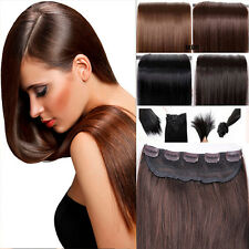 One Piece Real Clip in Remy Human Hair Extensions Full Head Highlight US