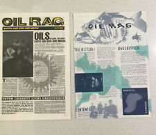 MIDNIGHT OIL - 2 x Oil Rag Newspapers