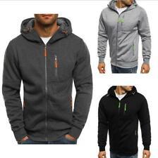 Mens Zip Up Sweater Zipper Pocket Sweatshirt Jacket Hoodies Coat Sport Gym
