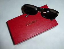 413391fcc0a Authentic Vintage Cartier Women s Brown Sunglasses w Original Box Paris  France