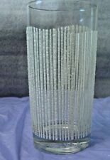 George Briard Designed White Icicle High Ball Glass Discontinued Pattern