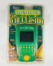 BEE 3 IN 1 POKER- 2004 TECHNO SOURCE - ELECTRONIC HAND HELD brand new
