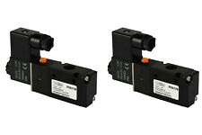 2x 12V DC Solenoid Air Pneumatic Control Valve 3 Port 3 Way 2 Position 1/4