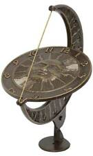 "Sun And Moon French Bronze Aluminum 12"" Sundial by Whitehall Products"