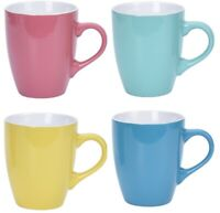 Set Of 4 Coffee / Tea Mugs 340ml Mug Bright Colour Mug Set