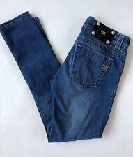 Miss Me MS5151CK67 Mid Rise Cuffed Skinny Distressed Jeans Sz 26x27