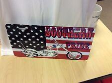 Harley- Davidson Chopper Southern Pride Novelty Vanity License Plate U.S.A.