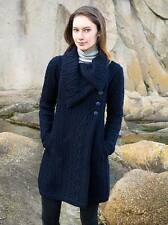West End | Chunky Collar Coat | Large, Navy