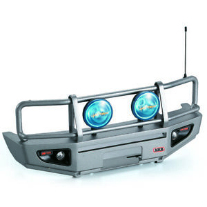 Alloy Front Bumper w/ LED Light Lamp for RC4WD TF2 LWB Axial SCX10 & G1M4