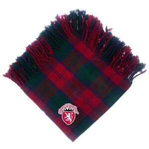 "HS Scottish Kilt Fly Plaid Lindsey Tartan Acrylic Wool 48"" X 48"" Highland Wear"