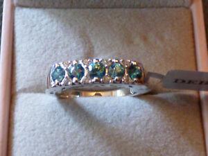 Smashing Ratanakiri Blue Zircon Band Ring