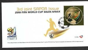 SOUTH AFRICA, 2010  FIFA WORLD CUP, GOLD STAMP ILLUSTRATED FDC