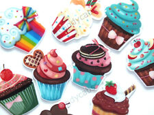 CandyCabsUK Mixed Resin Flatback Cupcakes Muffins Sweets Cakes x 9pcs Toppers