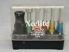 Vintage Xcelite PS-120 11pc. Compact Nutdriver Set with TA2 Torque Handle USA