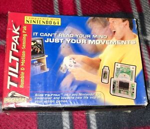 N64 TILTPAK Official Nintendo 64 Rumble Pak NEW COMPLETE IN SEALED BOX RARE VHTF