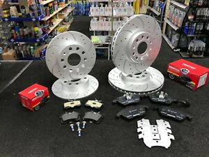 AUDI A1 BRAKE DISCS DRILLED GROOVED FRONT REAR AUDI A1 1.4 1.6 1.2TFSI TDi SLINE