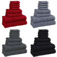 8 PIECE 100% COTTON  BATHROOM BALE TOWEL SET SOFT FACE TOWEL HAND BATH & TOWEL