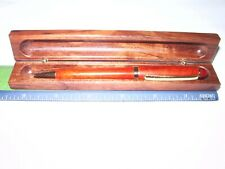 PEN OSAGE WOODEN -BALL POINT  – HANDCRAFTED  - WITH  BOX