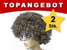 Parrucca Afro XXL Set da 2 13094 Marrone Spettinata Unisex Adulti di Alsino