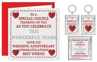 1st - 70th Years - Your Wedding Anniversary Present Card & Gifts  Special Couple