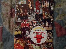 1970-71 NEW YORK KNICKS vs CHICAGO BULLS PROGRAM Basketball NBA 1971 NY Chi AD